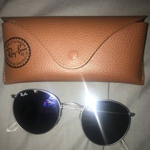 Accessories - Silver round ray ban frames